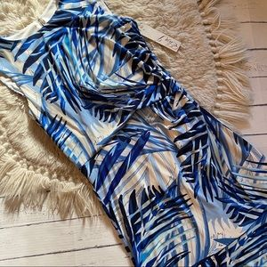 NWT! Eliza J palm leaf dress